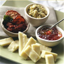 Aged Provolone with Three Dipping Sauces