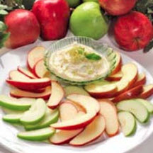 Apples with Honey-Cream Cheese Dip