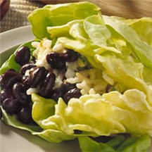 Black Bean and Cheese Lettuce Wraps