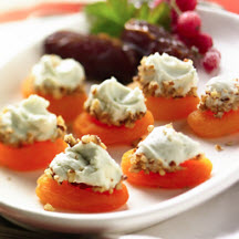 Miniature Blue Cheese Balls with Winter Fruit