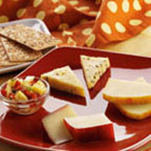 Cheese Plate with Pineapple Salsa
