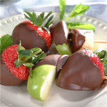 Chocolate Dipped Fruit Kabobs