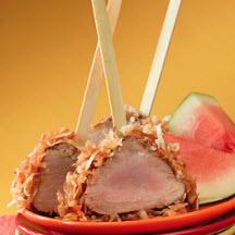 Coconut-Crusted Pork Tenderloin Lollipops