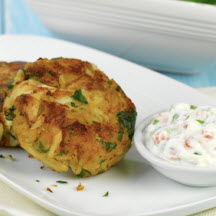 Crab Cakes with Greek Yogurt Sauce