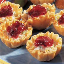 Cranberry Crab Meat and Cream Cheese Appetizers.