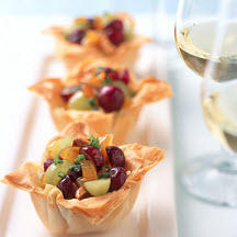 Crispy Phyllo Cups with Fruited Brie
