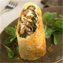 Duck Wild Mushroom and Fontina Cheese Strudel