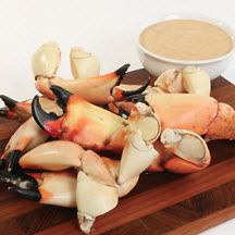 Florida Stone Crab Claws with Key Lime Mustard Dipping Sauce