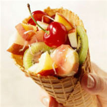 Fresh Fruit Sundae Snack