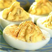 Green Chile Deviled Eggs Recipe - CooksRecipes.com