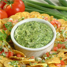 Hot Spinach Dip with Cheesy Chips