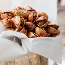 Pistachios Roasted with Smoked Chile Tequila and Limes
