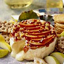 Plum and Walnut Baked Brie