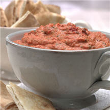 creamy dip with roasted red peppers and spicy jalapeños. A great ...