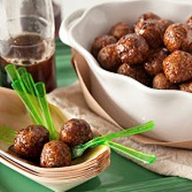 Smokey Cola Glazed Meatballs