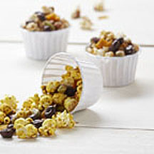 Spicy Sweet Raisinets Popcorn