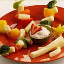 String Cheese and Veggie Fruit Kabobs