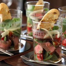 "Tapas-Style Pepper-Steak ""Parfaits"""