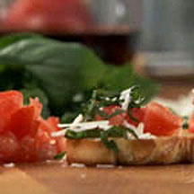 Tomato Basil Crostini Recipe - CooksRecipes.com