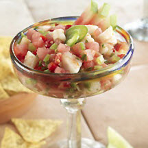 Watermelon Toasted Jalapeño and Shrimp Pico de Gallo