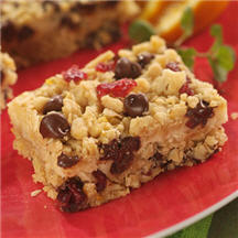 Chocolate Chip Cranberry Cheese Bars