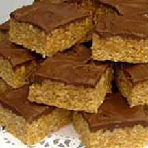 Frosted Crispy Peanut Butter Bars