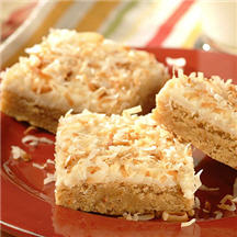 Peanutty Pina Colada Bars