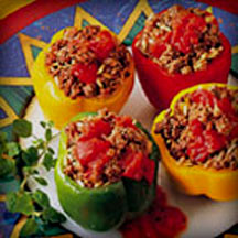Beef-Stuffed Peppers.