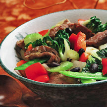 Beef with Black Beans and Vegetables