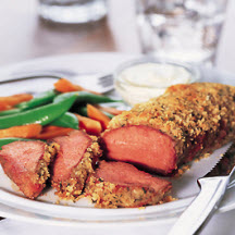 Crumb Crusted Petite Tender Roasts with Wasabi Sour Cream