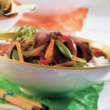 Ginger-Beef Stir Fry with Rice