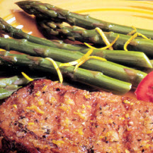 Grilled Prime Rib with Asparagus