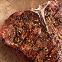 Grilled T-Bone Steak for Two with Wasabi Sauce