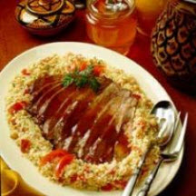 Moroccan Beef with Honey-Spice Couscous