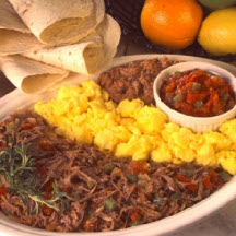 Shredded Beef with Eggs and Tortillas
