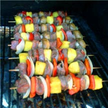 Sirloin Kebabs with Fresh Pineapple