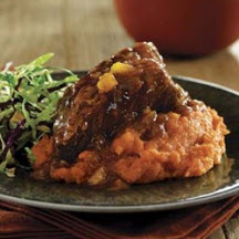 Slow Cooker Beef Short Ribs with Ginger-Mango Barbecue Sauce