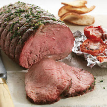 Top Sirloin Petite Roast with Parmesan Roasted Tomatoes