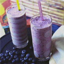 ... benefits of the blueberry, this is a very, berry good drink for you