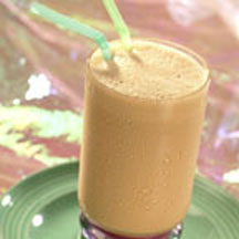 Choco-Banana Peach Smoothie