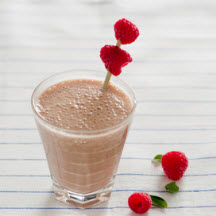 Chocolate Raspberry Yogurt Smoothie