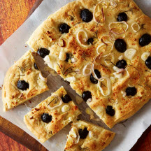 Gluten-Free Olive, Shallot and Rosemary Focaccia
