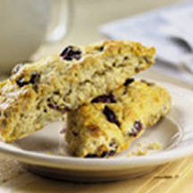 ... , lemon-scented scones with fresh thyme, onion and dried cherries