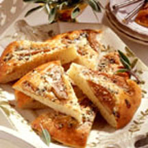 Savory Pear and Gorgonzola Focaccia