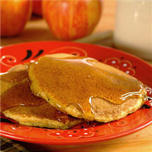 Apple Corn Meal Pancakes