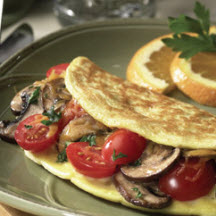 Cherry Tomato and Portabella Omelet