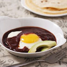 Eggs Poached in Pasilla Chile Sauce