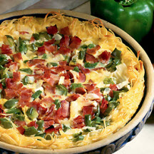 Noodle-Crusted Denver Quiche