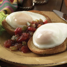 Poached Eggs with Chunky Cajun Sauce