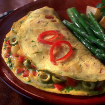 Spanish Omelet with Olives and Red Pepper